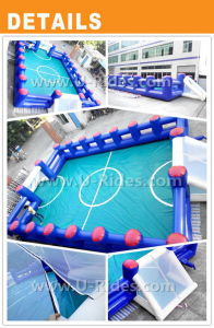Hot Sale Inflatable Soap Football Field Soccer Arena Football Pitch For Event pictures & photos