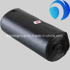 Black Plastic PE Trash Garbage Bags on Roll pictures & photos