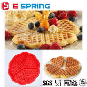 Waffle Cake Chocolate Pan Silicone Mold Baking Mould Cooking Tools