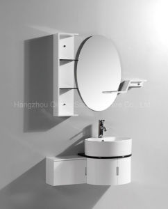 Wall-Mounted PVC Cabinet for Bathroom with Side Vanity pictures & photos