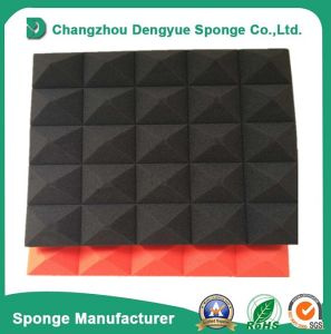 Sound Absorption Foam Pyramid in Black pictures & photos