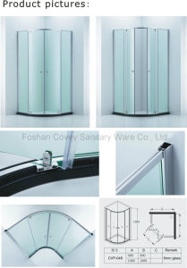 Australian Standard Quadrant Shower Enclosure/Round Bathroom Shower Cabin with Double Pivot Doors (CVP-048) pictures & photos
