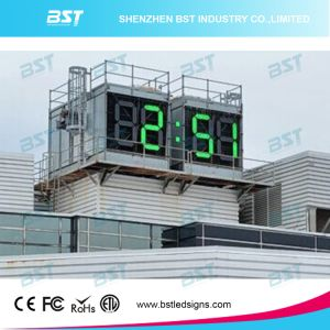 "64"" High Brightness Jumbo/Giant Outdoor Waterproof LED Clock Sign for Time/Temperature Display pictures & photos"