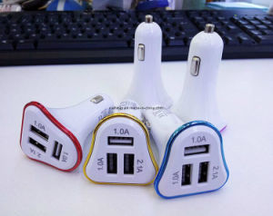 Logo Print 3 Three USB 2.1A /1.0A /1.0 a Car Charger with LED Light pictures & photos