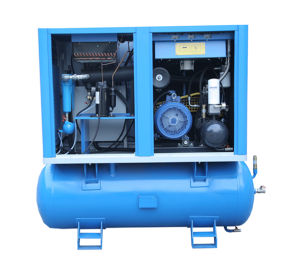 Oil-Lubricated Screw Low Noise Tank Mounted Air Compressor (KA7-08/250) pictures & photos