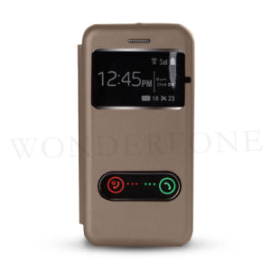 Flip Leather Phone Case with Windows for HTC 626 pictures & photos