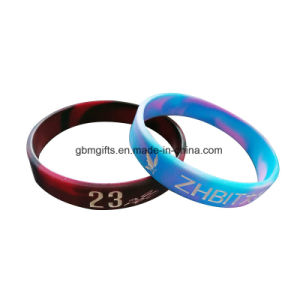 Promotinal Printed Solid Silicone Bracelet pictures & photos
