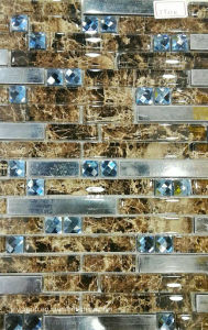 Glass Mosaic Horzion Mix with Metal Jy21k pictures & photos