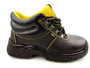 Embossed Splite Leather Safety Shoes pictures & photos
