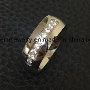 Shineme Jewelry Popular High Quality Zircon Titanium Jewellry Ring (TR1870) pictures & photos