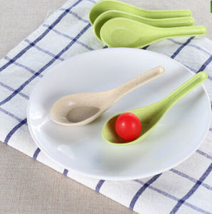 Bamboo Fiber Children Dinner Set Spoon (YK-S1001) pictures & photos