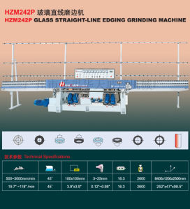 Glass Straight Line Edging Machine (HZM242P) Tn157 pictures & photos