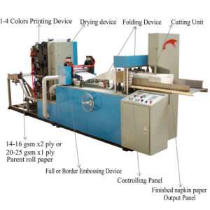 Two Colors Printing Automatic Folding Paper Napkin Making Machine Price pictures & photos