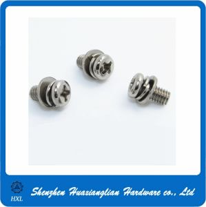 Stainless Steel Small Cross Head Combination Screw for Office Chair pictures & photos