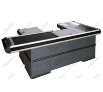 Checkout Counters Used in Supermarket, Retail Check out Counters with Motor Transfer Belt pictures & photos