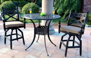 3PC Classic High Dining Cast Aluminum Outdoor Furniture pictures & photos