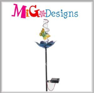 Hummingbird Rain Gauge OEM with Solar Light Garden Craft Stake pictures & photos