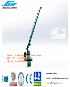 Ghe Pedestal Marine Crane Telescopic Jib 2.5t@20m pictures & photos