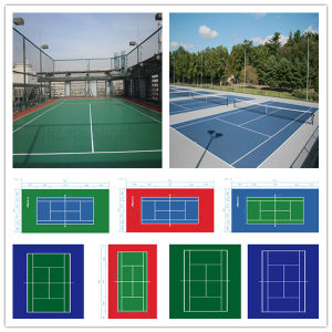 Itf Chinese Tennis Court Polyurethane Flooring pictures & photos