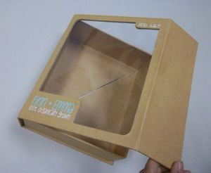 Rigid Paper Gift Box with Clear PVC Window pictures & photos