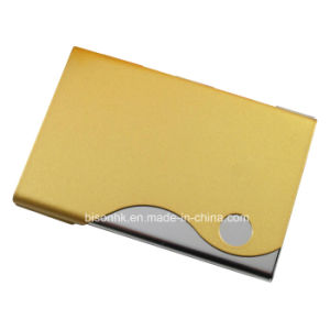 Yellow Business Card Box Leather Card Holder pictures & photos