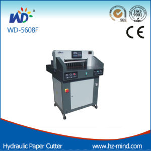 Professional Manufacturer (WD-5608F) Program-Control Hydraulic Paper Cutting Machine pictures & photos