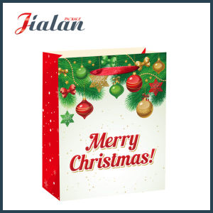 Glossy Laminated Art Paper Merry Christmas Shopping Gift Paper Bag pictures & photos
