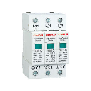 SPD2 Type 230V/400V 20ka SPD Surge Protective Device for Power Supply System pictures & photos