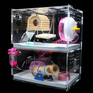 Customized Acrylic Pet House Acrylic Reptile Box Hamster Cage pictures & photos