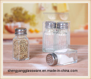Printed Condiment Bottle / Salt Spice Jar/Salt and Pepper Shaker with Metal Lid pictures & photos