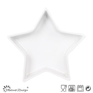 Star Shape White Ceramic Tray pictures & photos