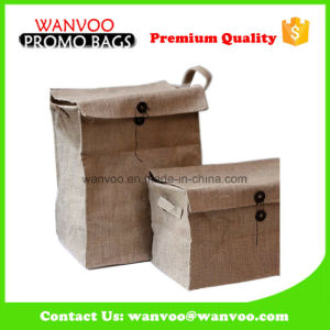 Customized Woven Sacks Jute Stock Bag with Button pictures & photos