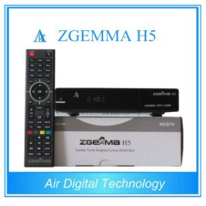 2016 New Fatest CPU Version Zgemma H5 Combo Receiver with Hevc/H. 265 DVB-S2+T2/C Twin Tuners pictures & photos