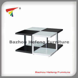 Modern 2-Tier Tempered Glass Coffee Table Set (CT080) pictures & photos