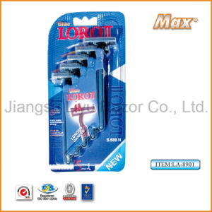 Good Quality Stainless Steel Blade Disposable Shaving Razor (LA-8901) ( pictures & photos