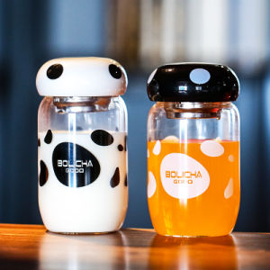 Cute Glass Water Bottles with Mushroom pictures & photos