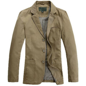 Men′s Military Slim Fit Button Fly Blazer Cotton Sport Outwear Jacket pictures & photos