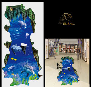 2016 Sea Dolphin 3D Floor Sticke pictures & photos