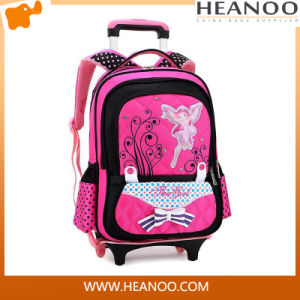 OEM Custom Student Trolley School Backpack with Wheels for Girls pictures & photos