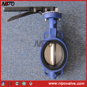 Cast Iron Centre Sealing Rubber Lining Butterfly Valve pictures & photos