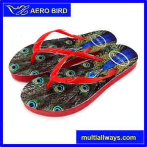 Wild Sexy Colorful Print Outsole Slipper for Ladies (T1609) pictures & photos