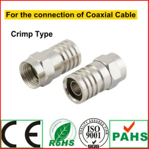 RoHS Audio & Video Broadcast Coaxial Cable F Polygon Connector (4-136G) pictures & photos