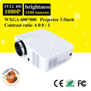 1500 Lumens 60W LED, 20000hours Life Home Theater Projector