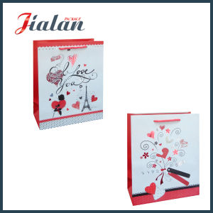 Red Hot Stamping Customize Logo Printed Cheap Paper Gift Bag pictures & photos