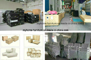 China Wholesale Synthetic Cow Leather Double Bed pictures & photos