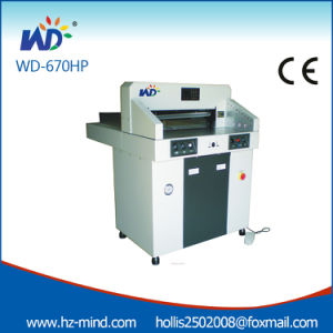 Manufacturer 26inch (670HP) Program Control Hydraulic Paper Cutter pictures & photos