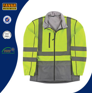 High Vis 2 Tone Waterproof Breathable Softshell Jacket pictures & photos