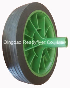"10"" Dustbin Rubber Wheel pictures & photos"