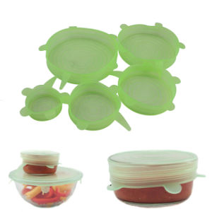 Food Grade Flexible Silicone Super Stretch Suction Food Lid for Pan, Bowl, Cup pictures & photos