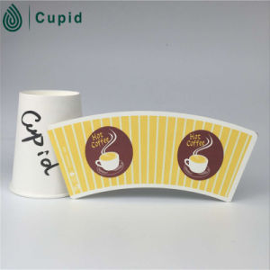 Hztl Green Paper Cup Fan Coated PE/Paper Fan Making/Fan Blank Paper pictures & photos